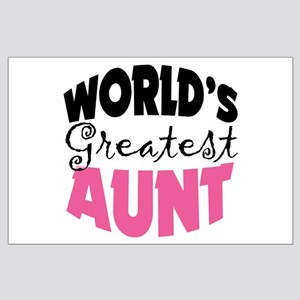World's Greatest Aunt Large Poster