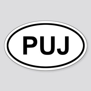 Punta Cana Dominican Republic PUJ Sticker (Oval)