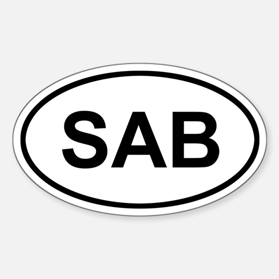 Saba SAB Sticker (Oval)
