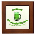 Happy St. Pat's CC Framed Tile