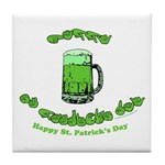 Happy St. Pat's CC Tile Coaster