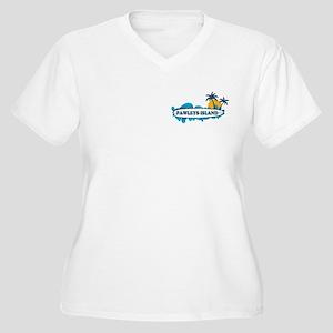 Pawleys Island SC Women's Plus Size V-Neck T-Shirt