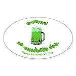 Happy St. Pat's CC Sticker (Oval 50 pk)