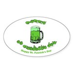 Happy St. Pat's CC Sticker (Oval 10 pk)