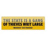 Rothbard on Government Sticker (Bumper)