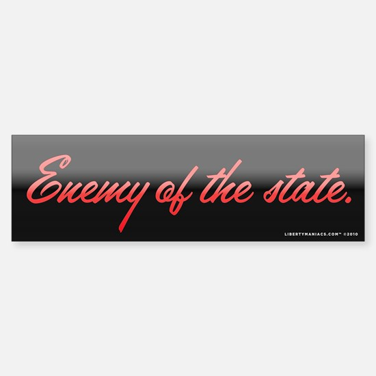 Enemy of the State Sticker (Bumper)