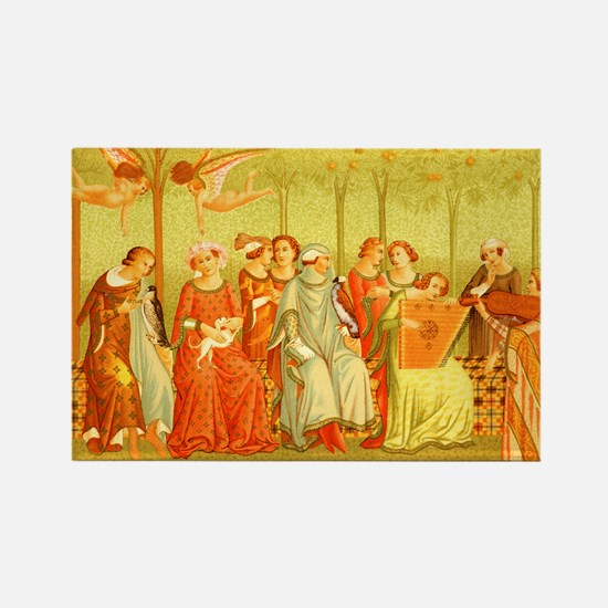 Ladies of Renaissance Rectangle Magnet