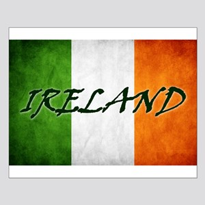 """IRELAND"" on Irish Flag Small Poster"