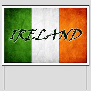 """""""IRELAND"""" on Irish Flag Yard Sign"""
