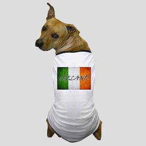 """""""IRELAND"""" on Irish Flag Dog T-Shirt"""