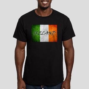 """""""IRELAND"""" on Irish Flag Men's Fitted T-Shirt (dark"""