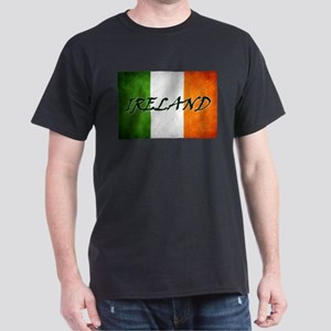 """IRELAND"" on Irish Flag Dark T-Shirt"