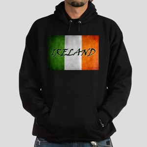 """IRELAND"" on Irish Flag Hoodie (dark)"