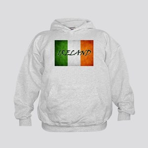 """IRELAND"" on Irish Flag Kids Hoodie"