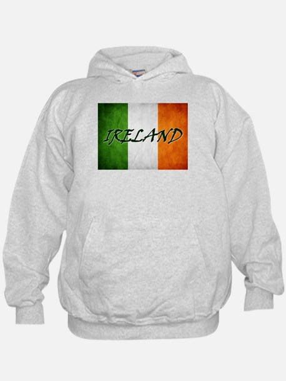 """IRELAND"" on Irish Flag Hoodie"