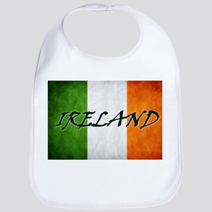 """""""IRELAND"""" on Irish Flag Bib"""