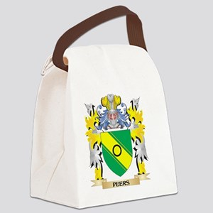 Peers Family Crest - Coat of Arms Canvas Lunch Bag