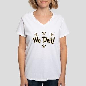 We Dat! Women's V-Neck T-Shirt