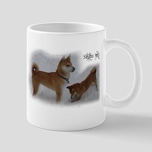 Shiba snow Mugs