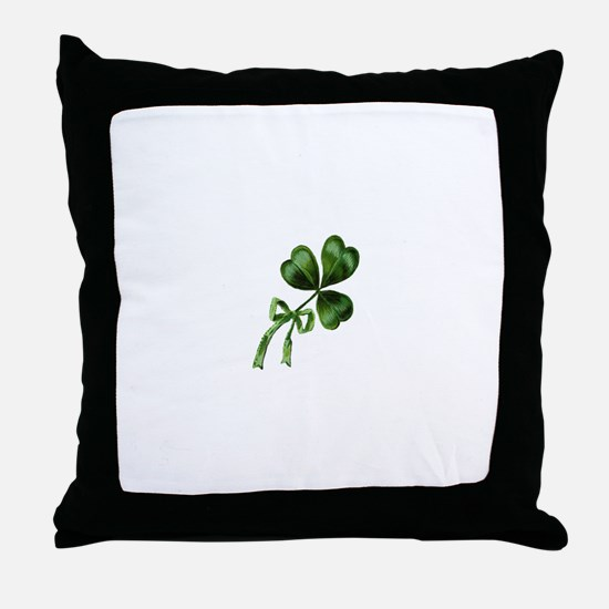 Vintage Shamrock Throw Pillow