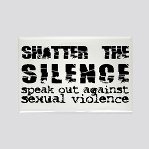 Shatter the Silence Rectangle Magnet