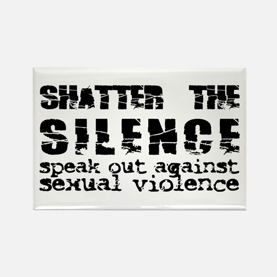 Shatter the Silence Rectangle Magnet