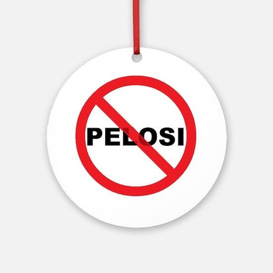 Anti Pelosi Ornament (Round)