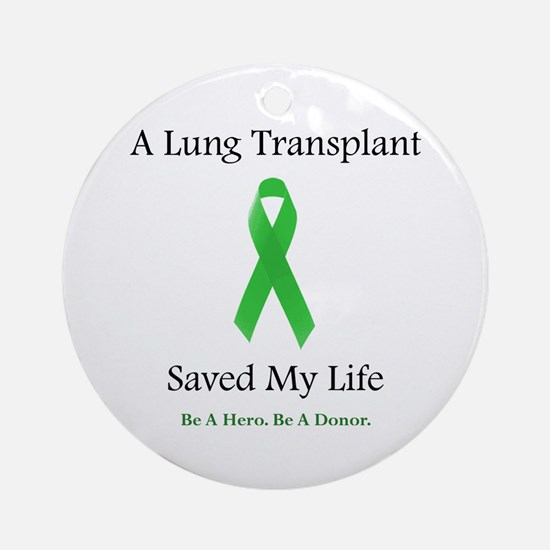 Lung Transplant Survivor Ornament (Round)