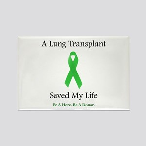 Lung Transplant Survivor Rectangle Magnet