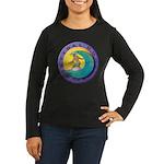 Tidal Dog Women's Long Sleeve Dark T-Shirt