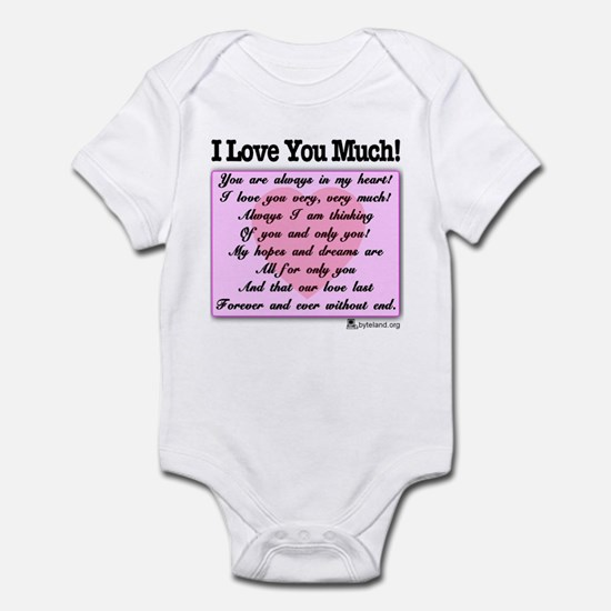 I Love You Much Infant Bodysuit