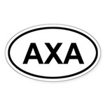 Anguilla AXA Sticker (Oval)