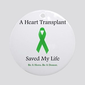 Heart Transplant Survivor Ornament (Round)