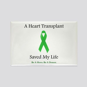 Heart Transplant Survivor Rectangle Magnet