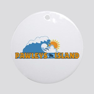 Pawleys Island SC - Waves Design Ornament (Round)