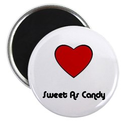 SWEET AS CANDY (HEART) Magnet