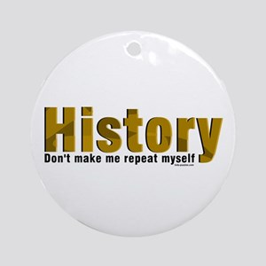 Brown Repeat History Ornament (Round)
