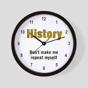 Brown Repeat History Wall Clock