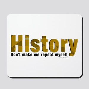 Brown Repeat History Mousepad