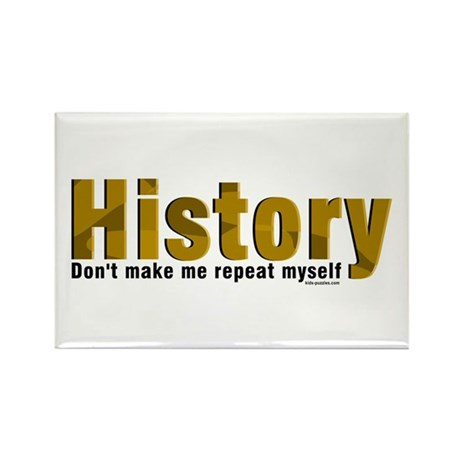 Brown Repeat History Rectangle Magnet