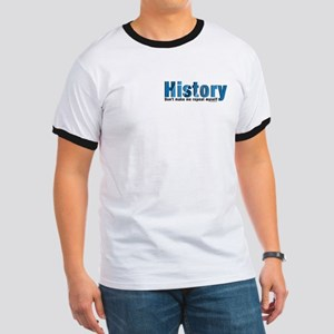 Blue History Pocket Area Ringer T
