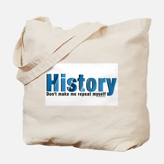 Blue Repeat History Tote Bag