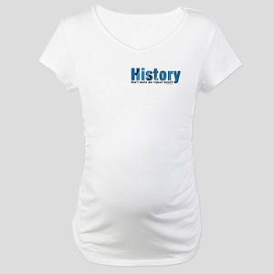 Blue History Pocket Area Maternity T-Shirt
