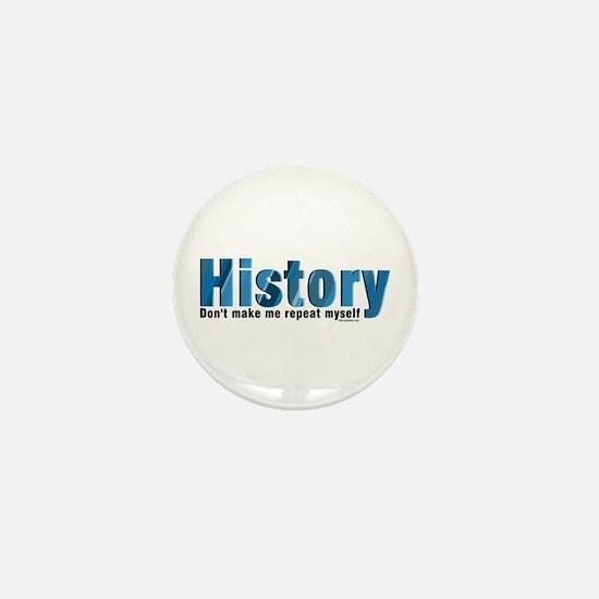 Blue Repeat History Mini Button