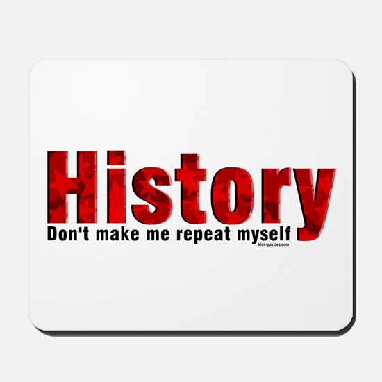 Repeat History Red Mousepad