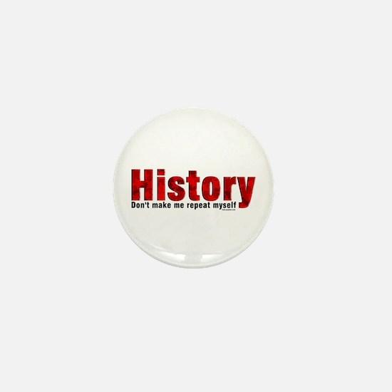 Repeat History Red Mini Button