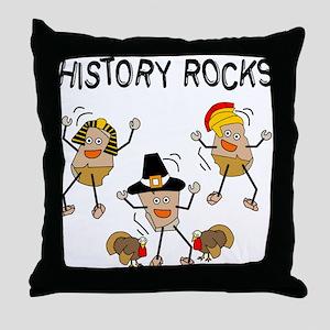 History Rocks Throw Pillow