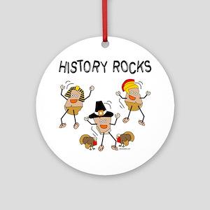 History Rocks Ornament (Round)