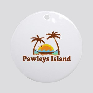 Pawleys Island SC - Sun and Palm Trees Design Orna