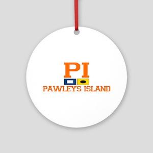 Pawleys Island SC - Nautical Flags Design Ornament